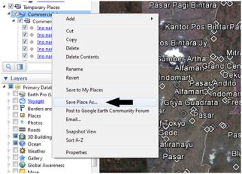 Ekspor KML dari Google Earth Pro ke SHP ESRI (ArcView/ArcGIS