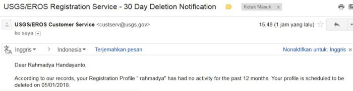 delete notification