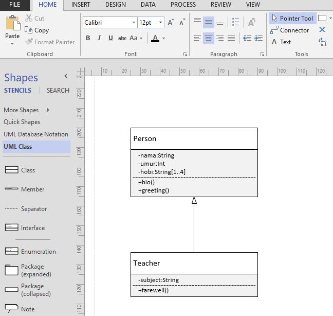 class with visio
