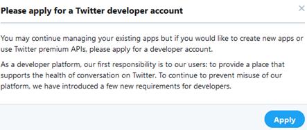 Menganalisa Akun Twitter – Mendapatkan Keys & Token Twitter API ...